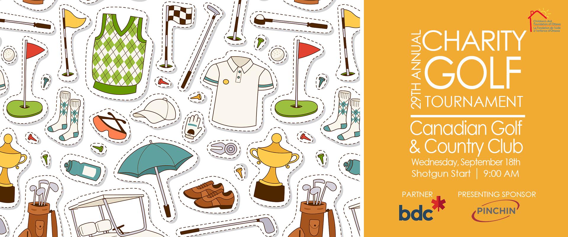 golf tournament website banner
